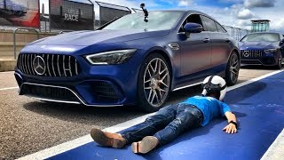 640 л.с. Mercedes-AMG GT 63 S: тест-драйв и ДРИФТ на треке + 100-200 км/ч! Едем на пределе. COTA.