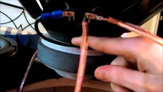 How to Wire a Dual 4 ohm Subwoofer to a 8 ohm (Mystery MO 10S)