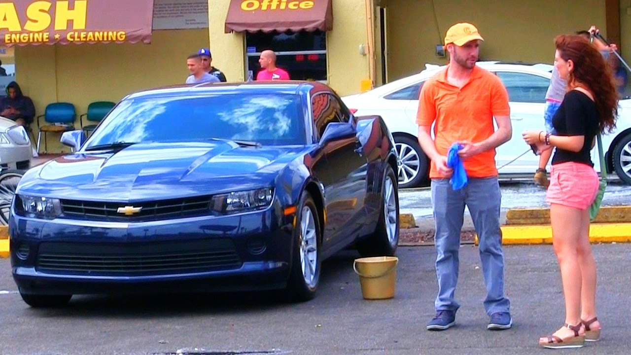 car wash gold digger prank