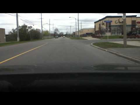 April 22nd 2012 Driving on Terminal Ave in Ottawa, Ontario Canada