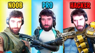 Fortnite NOOB vs PRO vs HACKER: Fail Edition