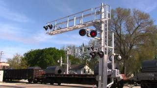 New Signals for Dixie Highway & NS Freight to Boot - Momence, IL