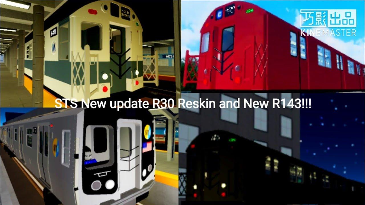U Bahn Roblox Roblox Sts Update R30 Reskin And New R143 Train Youtube