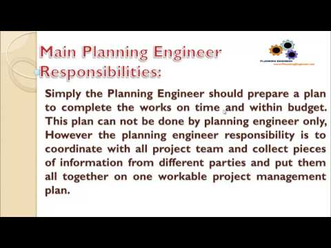 L1 Introduction to Planning Engineer Job Role