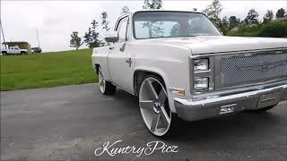 Silverado short bed C10 dub wheels & Infiniti gima wheels. Grudge fest Carshow & racing