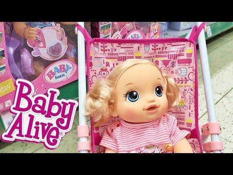 Куклы Пупсики Беби Элайв идем в Магазин Игрушек. Кукла Беби Бон, коляска и много вещей. Зырики ТВ