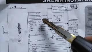 Cara Pasang Alarm Mobil Ayla/Agya merk KIAORA model bentuk Kunci
