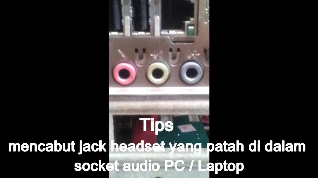 How To Unplug The Headset Jack Broken Cara Cabut Patahan Jack