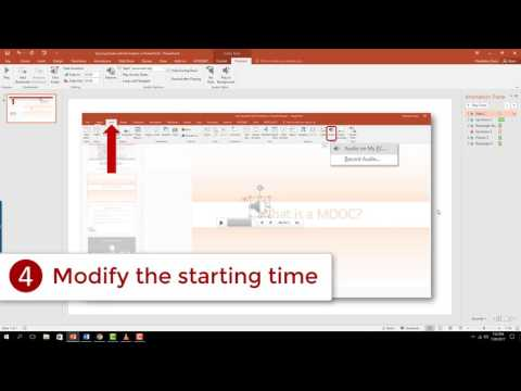Syncing Audio with Animations on PowerPoint