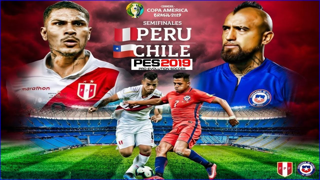 PES 2019 - Chile x Peru | Copa América 2019 - Semifinal | Gameplay  PS4