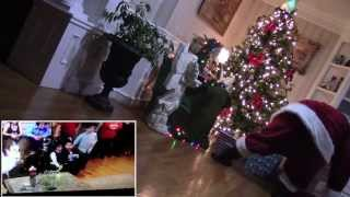 the real santa claus caught on tape with reaction