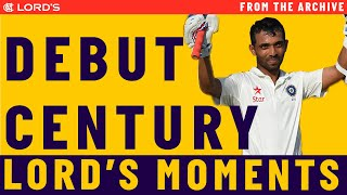 Ajinkya Rahane's debut century at Lord's