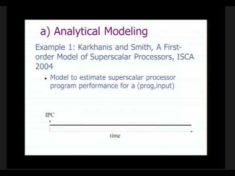 Quantitative Evaluation Techniques in Computer Architecture