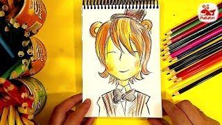 Как нарисовать Фредди из ФНАФ /5 ночей с фредди / урок рисования
