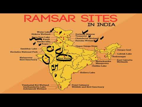 Important ramsar site wet land of india in hindi