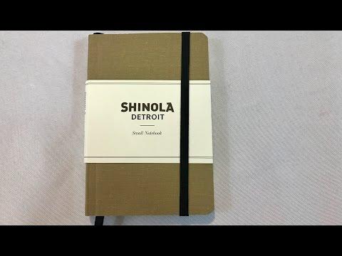 The small, soft linen Shinola pocket notebook from Michigan