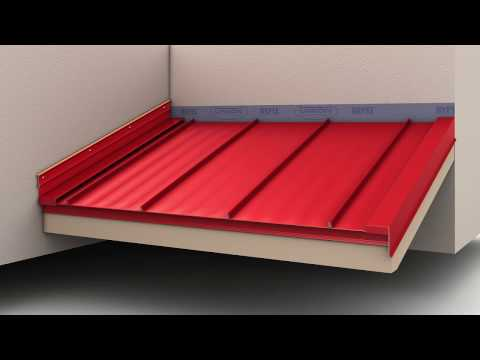 How to Install Standing Seam Metal Roofing - Endwall Flashing