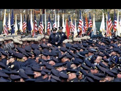 Boston Marathon bombing: memorial for officer Sean Collier