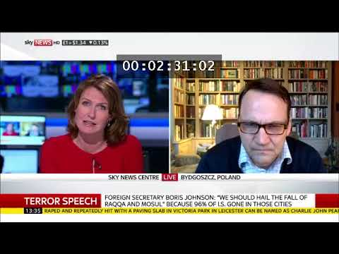 Radoslaw Sikorski interview on Sky News