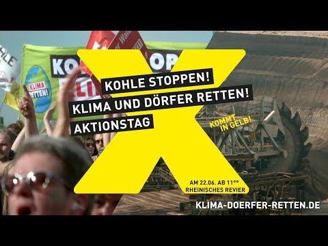 Kohle stoppen! Klima & Dörfer retten! Aktionstag Rheinland 22.06.2019