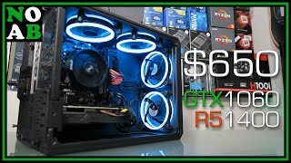 Building a $650 Gaming PC (Ryzen 5 1400 + GTX 1060, Mixed New/Used Parts)