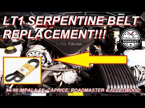 Lt1 Serpentine Belt Replacement 94 95 96 Chevy Impala Ss Caprice Buick Roadmaster Cadillac Fleetwood Youtube