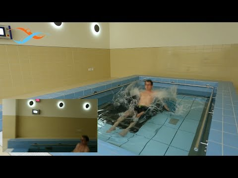 EWAC Medical - Practical test safe exercise environment on a movable swimming pool floor