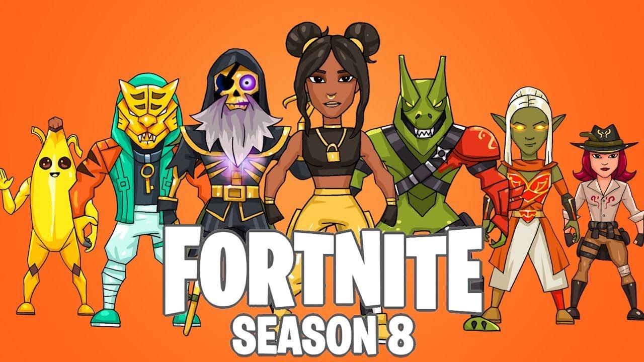 Fortnite Season 8 Battle Pass Skin Drawings