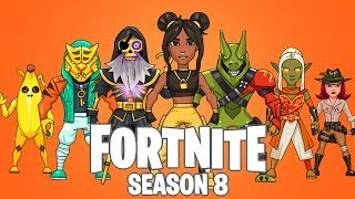 Fortnite Season 8 Battle Pass Skin Drawings