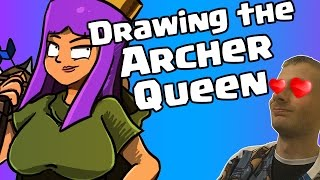 Gambar cover Clash of Clans Art - Drawing the Archer Queen