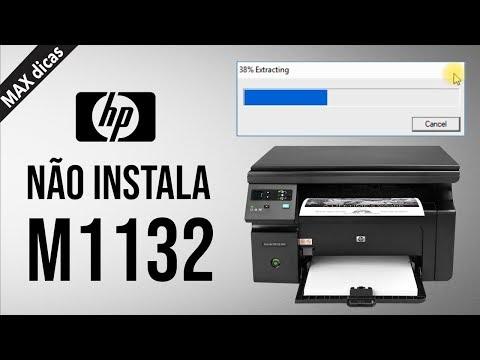 Driver da IMPRESSORA HP M1132 só EXTRAI e NÃO INSTALA Windows 10