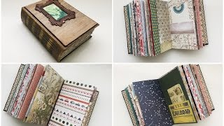 Handmade Vintage Travel Journal/Album - Flip Through