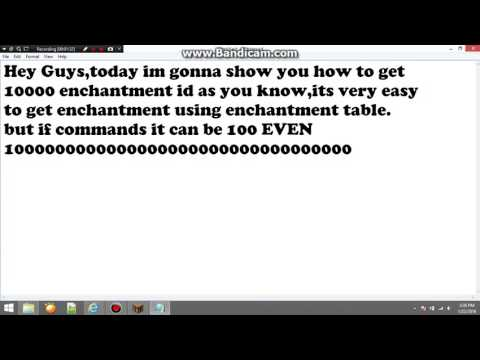 Minecraft Enchantment IDS 1000 Or More!