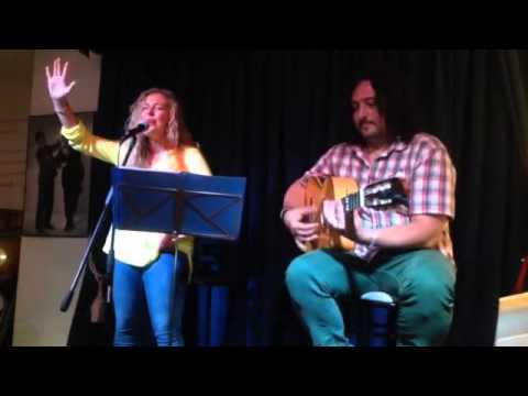 Ana Castillo y Jacobo Góngora. En Lolita Málaga