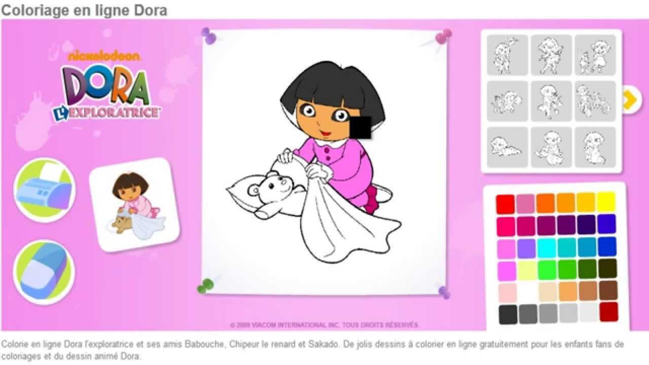Dora Exploratrice Coloriage En Ligne Jeu Dora Enfants Hd Youtube