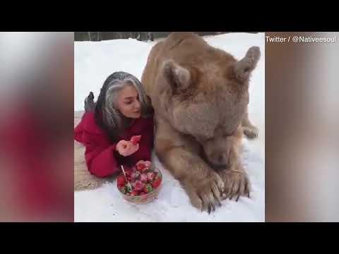 Egy csodálatos videó ember és állat barátságáról