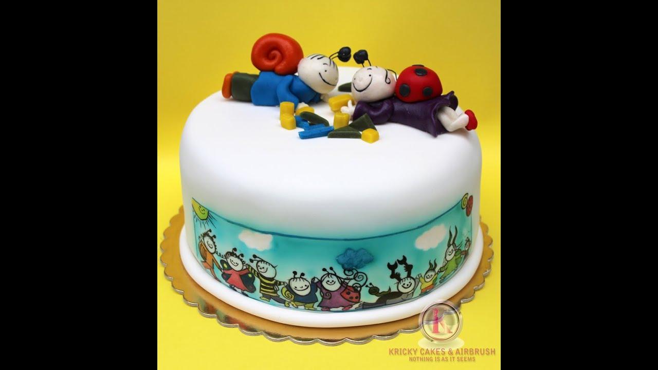 bogyó és babóca torta képek Kricky Cakes Decoration: Bogyó és Babóca torta festés/ cake hand  bogyó és babóca torta képek