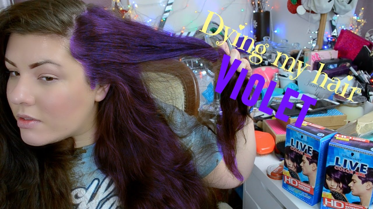 Dying My Hair Mystic Violet Xxl Live Youtube