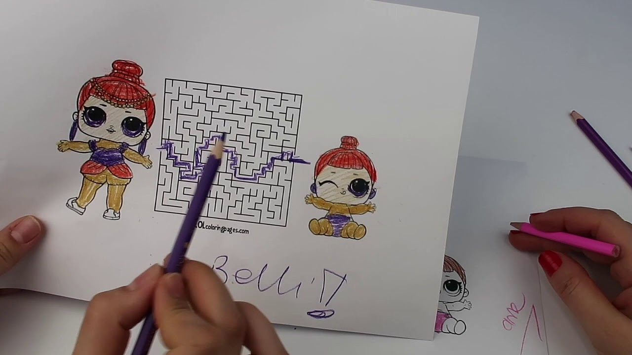 Lol Sürpriz 3 Kalem Labirent Bulmaca Ve Boyama Challenge 3 Dk Anne