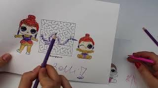 LOL Sürpriz 3 Kalem Labirent Bulmaca ve  Boyama Challenge 3 dk Anne vs Buse Düello Bidünya Oyuncak