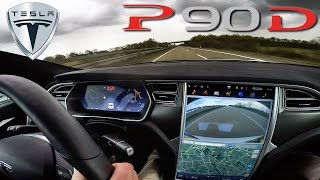 Tesla Model S P90D 762 HP LUDICROUS TOP SPEED & Acceleration on AUTOBAHN by AutoTopNL