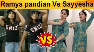 Sayyesha Vs Ramya Pandian, Dance Challenge | Classical Vs Western - 15-05-2020 Tamil Cinema News
