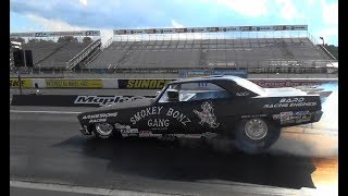 Smokey Bonz Gang Nova Funny Car pt2 Race 4 The House 2018