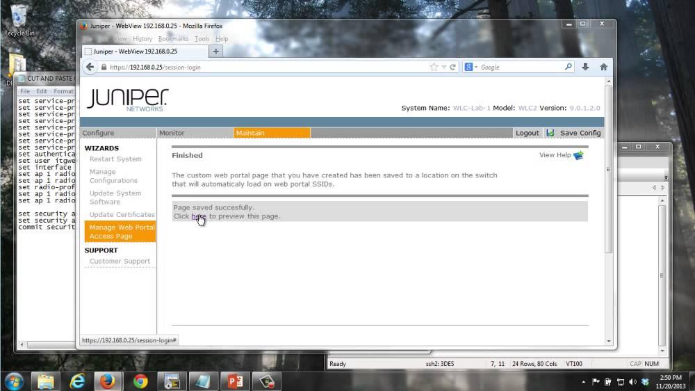 WLAN - Configuring a WLAN Captive Portal