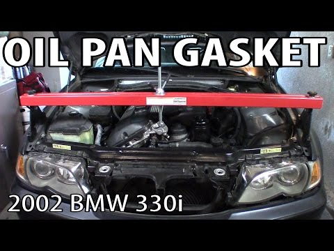 BMW 330i 325i E46 Oil Pan Gasket Replacement - YouTube