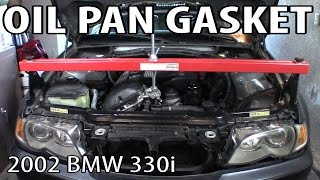 BMW 330i 325i E46 Oil Pan Gasket Replacement