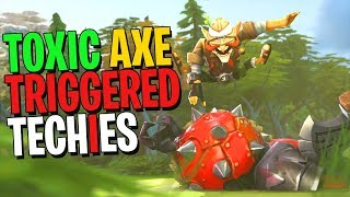 When Axe Triggered Techies - DotA 2