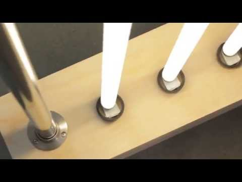 Fluorescent Tube Floor Lamp - YouTube