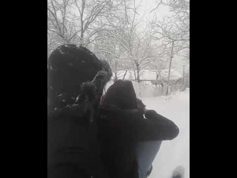 Санки, снег (Чечня)