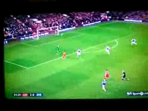 Daniel Sturridge Makes It 3 - 0 To Liverpool Against Everton, 28/01/2014